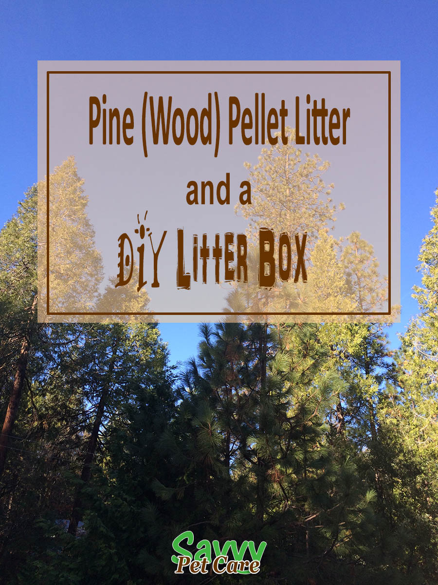 Pine Pellet Cat Litter Box