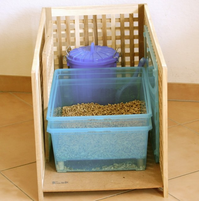 Pine Pellet Litter and a DIY Wood Pellet Litter Box