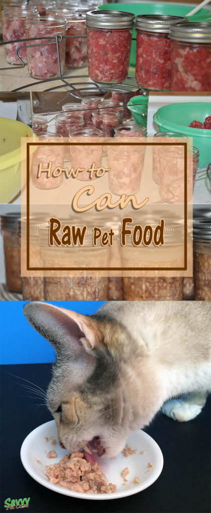 Step by step instructions: How to can raw pet food. Read why it is a good idea to have home canned food available for your pets whether or not you feed raw.